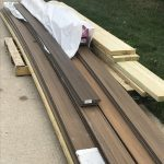 Recycled decking lumber