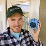 Jamie with recycled cora ball